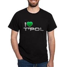 I Heart T'Pol - Green Heart T-Shirt