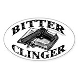 Bitter Clinger (White Oval Sticker)