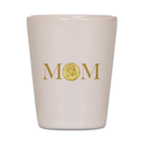 MOM yellow rose Shot Glass