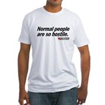 Normal People... - Dexter Fitted T-Shirt