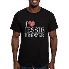 I Heart Jessie Brewer Men's Fitted T-Shirt (dark)