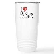 I Heart Luke & Laura Stainless Steel Travel Mug