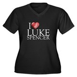 I Heart Luke Spencer Women's Plus Size V-Neck Dark