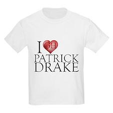 I Heart Patrick Drake Kids Light T-Shirt