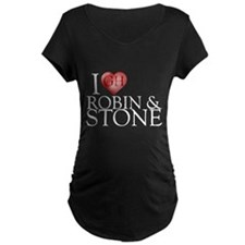 I Heart Robin & Stone Maternity Dark T-Shirt