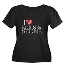 I Heart Robin & Stone Women's Plus Size Scoop Neck