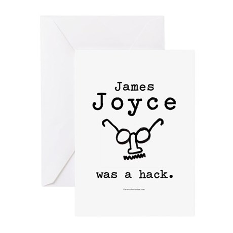 James Joyce Hack Greeting Cards (Pk of 10)