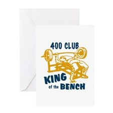400 Club Bench Press Greeting Card