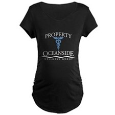 Property of Oceanside Wellness Maternity Dark T-Sh