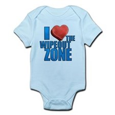 I Heart the Wipeout Zone Infant Bodysuit