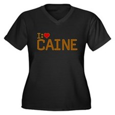 I Heart Caine Women's Plus Size V-Neck Dark T-Shir