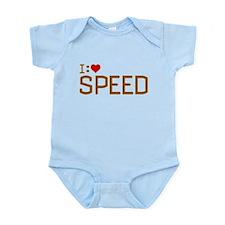 I Heart Speed Infant Bodysuit