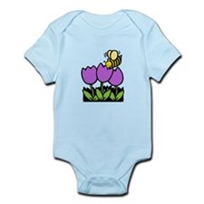 Bee Flowers Infant Bodysuit