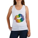 Big Rainbow Lips Women's Tank Top