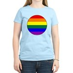 Round Pride Flag Women's Light T-Shirt