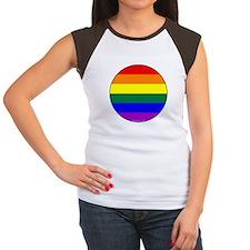 Round Pride Flag Tee