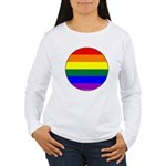 Round Pride Flag Women's Long Sleeve T-Shirt