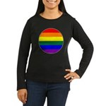 Round Pride Flag Women's Long Sleeve Dark T-Shirt