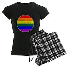 Round Pride Flag pajamas