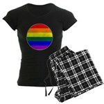 Round Pride Flag Women's Dark Pajamas