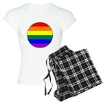 Round Pride Flag Women's Light Pajamas