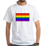 Rainbow Pride Flag White T-Shirt