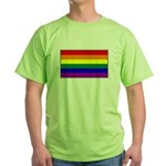 Rainbow Pride Flag Green T-Shirt