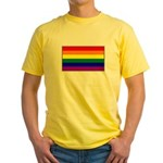 Rainbow Pride Flag Yellow T-Shirt