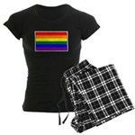 Rainbow Pride Flag Women's Dark Pajamas