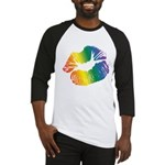 Big Rainbow Lips Baseball Jersey