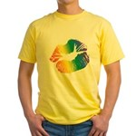 Big Rainbow Lips Yellow T-Shirt