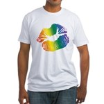 Big Rainbow Lips Fitted T-Shirt