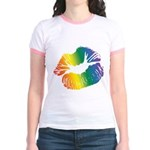 Big Rainbow Lips Jr. Ringer T-Shirt