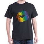 Big Rainbow Lips Dark T-Shirt