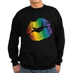 Big Rainbow Lips Dark Sweatshirt (dark)