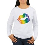Big Rainbow Lips Women's Long Sleeve T-Shirt