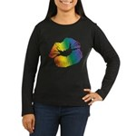 Big Rainbow Lips Women's Long Sleeve Dark T-Shirt