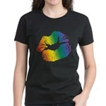 Big Rainbow Lips Women's Dark T-Shirt