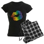 Big Rainbow Lips Women's Dark Pajamas