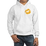 Big Orange Lips Hooded Sweatshirt
