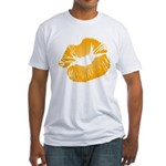 Big Orange Lips Fitted T-Shirt