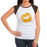 Big Orange Lips Women's Cap Sleeve T-Shirt
