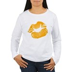 Big Orange Lips Women's Long Sleeve T-Shirt
