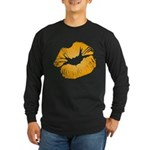 Big Orange Lips Long Sleeve Dark T-Shirt