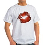 Red Lips Kiss Light T-Shirt