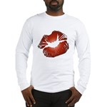 Red Lips Kiss Long Sleeve T-Shirt
