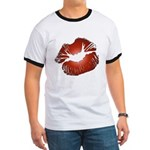 Red Lips Kiss Ringer T