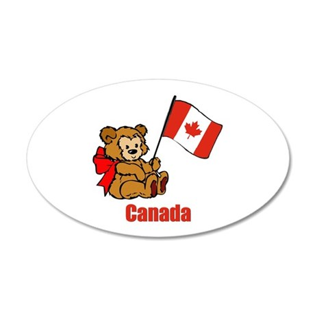 Canada Teddy Bear 22x14 Oval Wall Peel