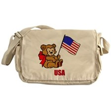 USA Teddy Bear Messenger Bag