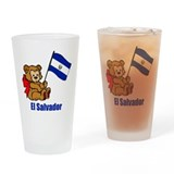 El Salvador Teddy Bear Drinking Glass